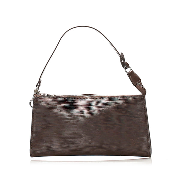 Brown Louis Vuitton Epi Pochette Accessoires Bag