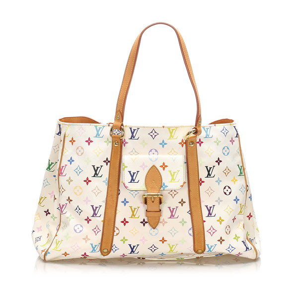 White Louis Vuitton Monogram Multicolore Aurelia GM Bag