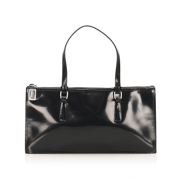 Black Prada Leather Handbag Bag