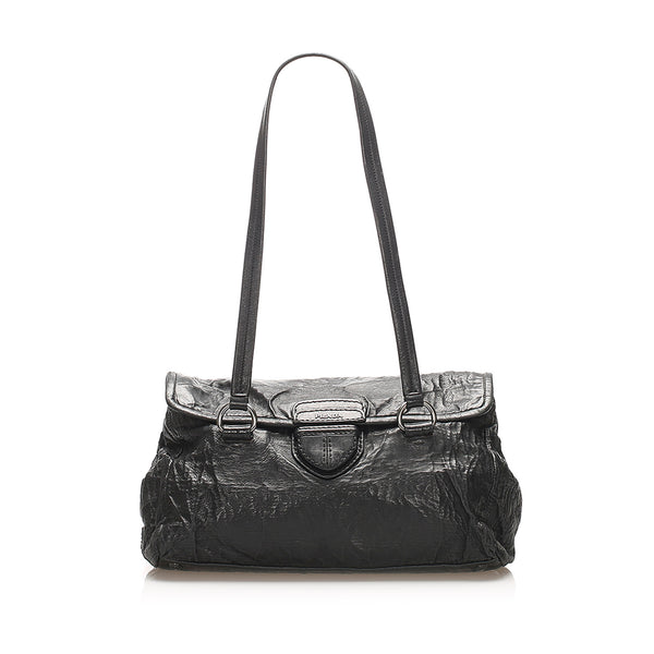 Black Prada Easy Leather Shoulder Bag