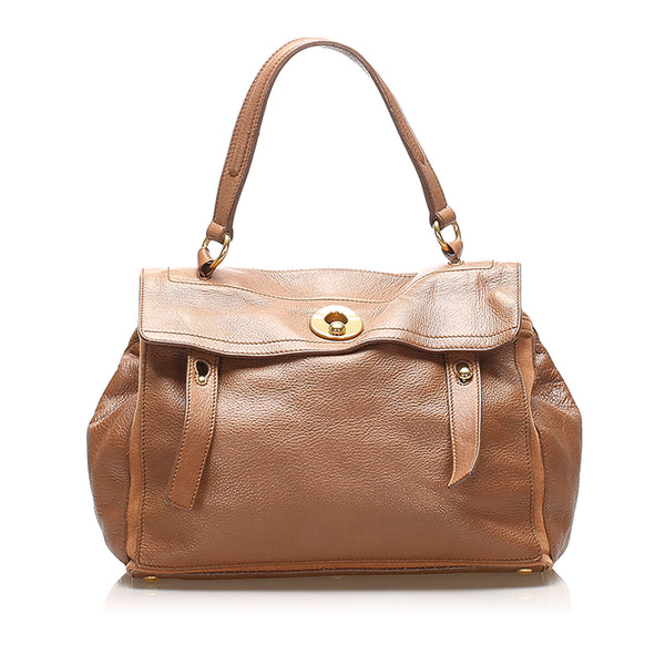 Brown YSL Muse Two Leather Handbag Bag