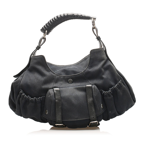 Black YSL Mombasa Canvas Handbag Bag