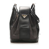Black YSL Drawstring Canvas Bucket Bag