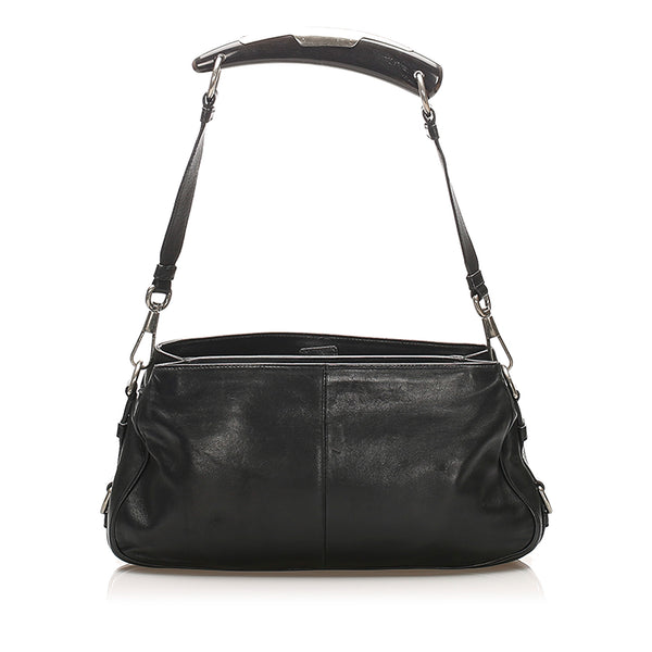 Black YSL Mombasa Leather Shoulder Bag