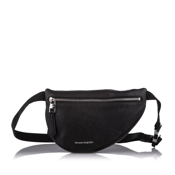 Black Alexander McQueen Leather Belt Bag