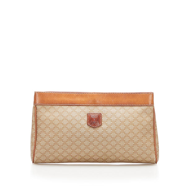 Brown Celine Macadam Clutch Bag