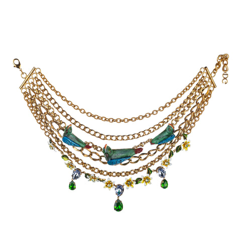 Gold Dolce&Gabbana Birds Gold-Tone Necklace