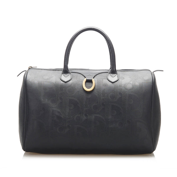 Black Dior Dior Oblique Travel Bag
