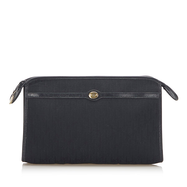 Black Dior Dior Oblique Canvas Clutch Bag