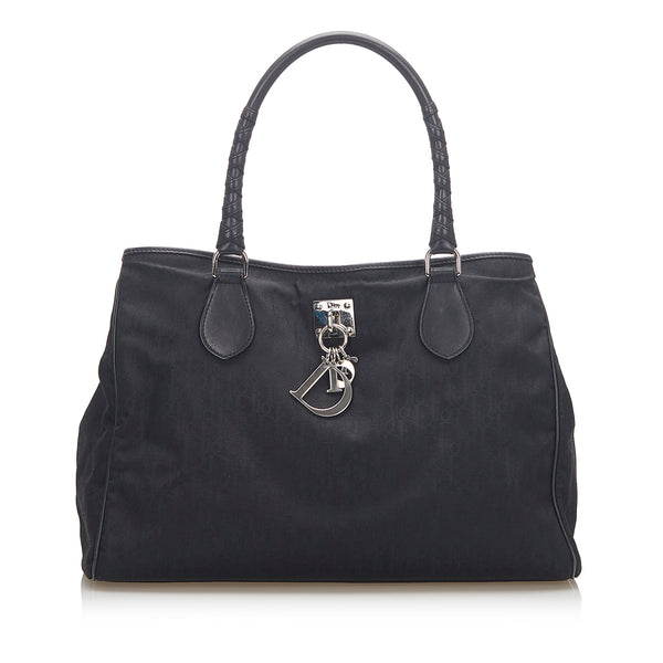 Black Dior Dior Oblique Lovely Canvas Tote Bag