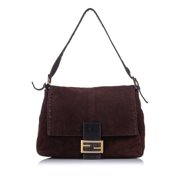 Brown Fendi Suede Mamma Forever Bag