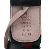 Black Gucci GG Web Leather Belt