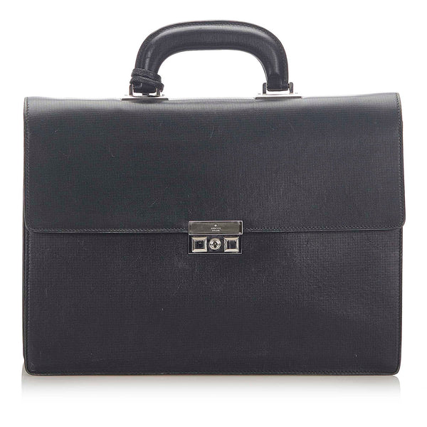 Black Gucci Leather Business Bag