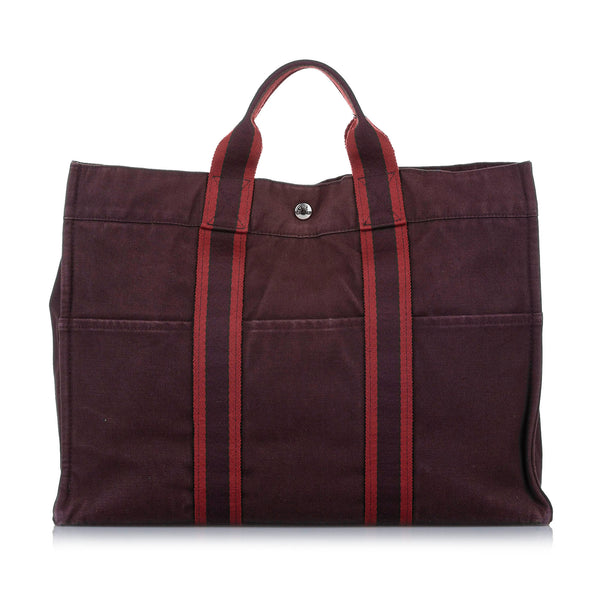 Red Hermes Fourre Tout MM Bag