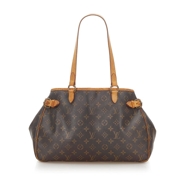 Brown Louis Vuitton Monogram Batignolles Horizontal Bag