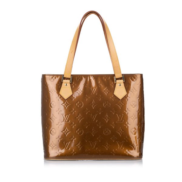 Brown Louis Vuitton Vernis Houston Bag