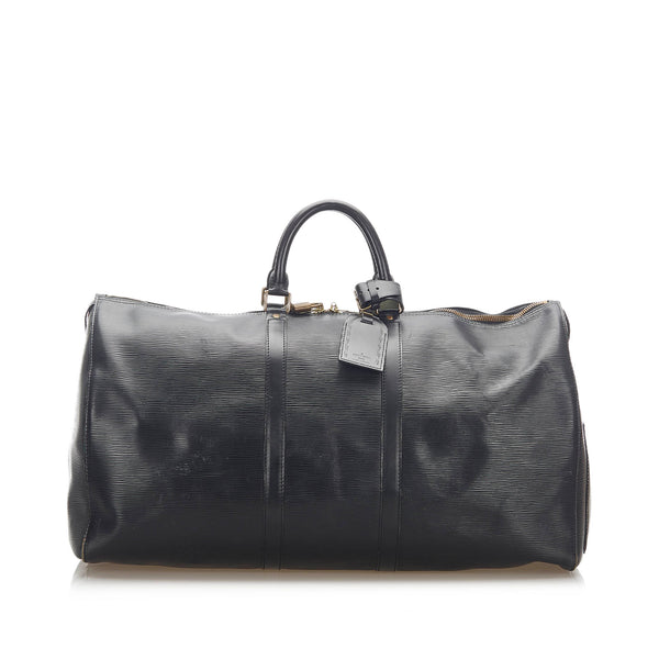 Black Louis Vuitton Epi Keepall 55 Bag
