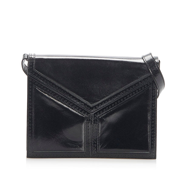 Black YSL Leather Shoulder Bag