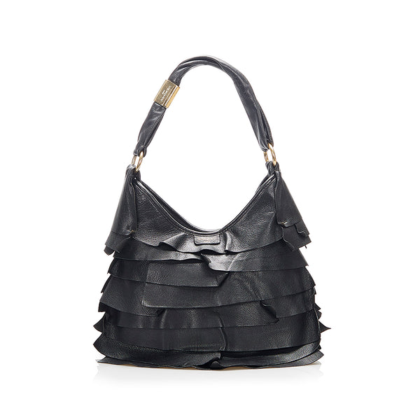 Black YSL Saint Tropez Leather Shoulder Bag
