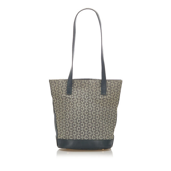 Gray Celine C Macadam Canvas Tote Bag