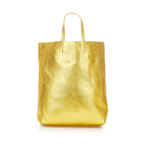 Gold Celine Vertical Cabas Tote Bag