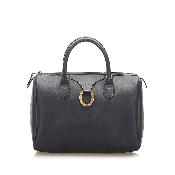 Black Dior Dior Oblique Boston Bag