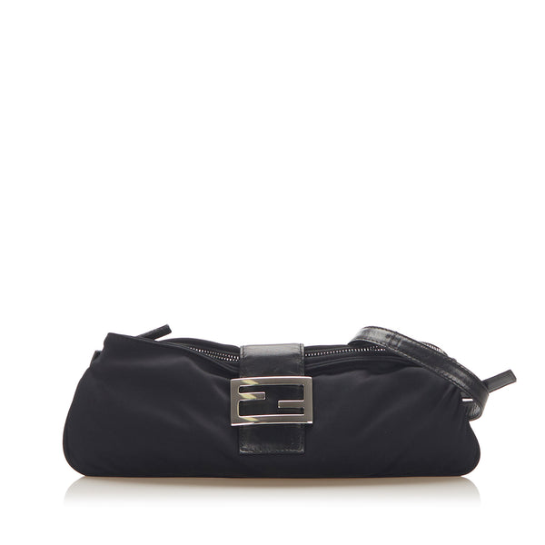 Black Fendi Canvas Shoulder Bag