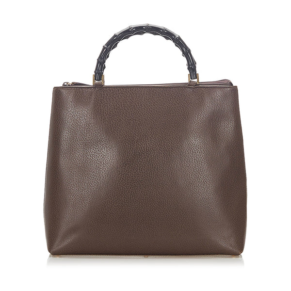 Brown Gucci Bamboo Leather Handbag Bag
