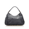 Black Gucci Abbey Leather Shoulder Bag