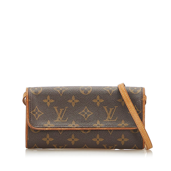 Brown Louis Vuitton Monogram Pochette Twin PM Bag