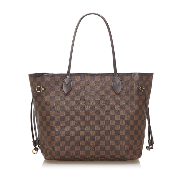 Louis Vuitton Damier Ebene Neverfull MM Bag