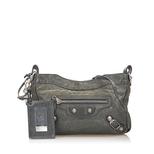 Gray Balenciaga Leather Crossbody Bag