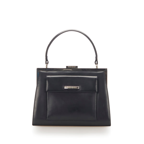 Black YSL Leather Handbag Bag