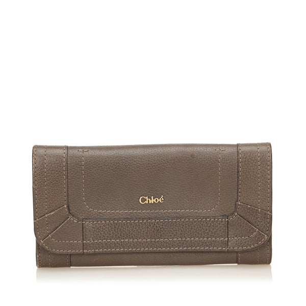 Brown Chloe Paraty Leather Wallet