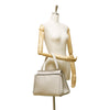 White Celine Leather Large Edge Bag