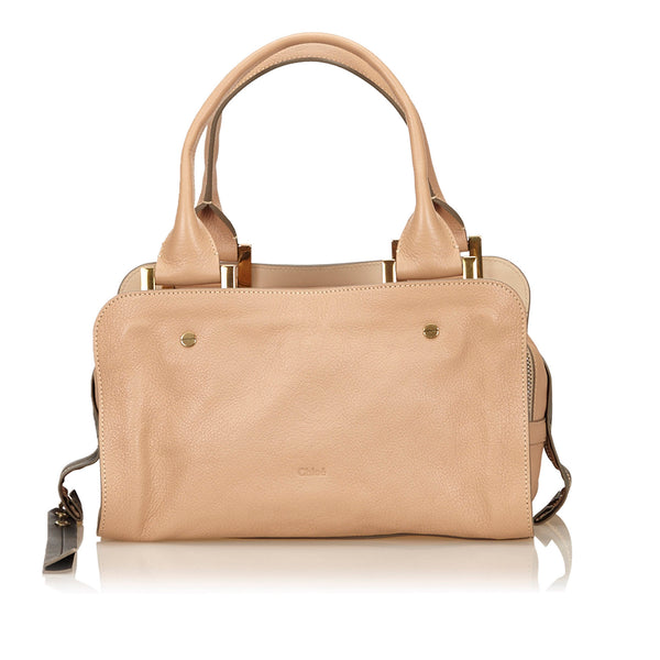Beige Chloe Leather Dalston Bag