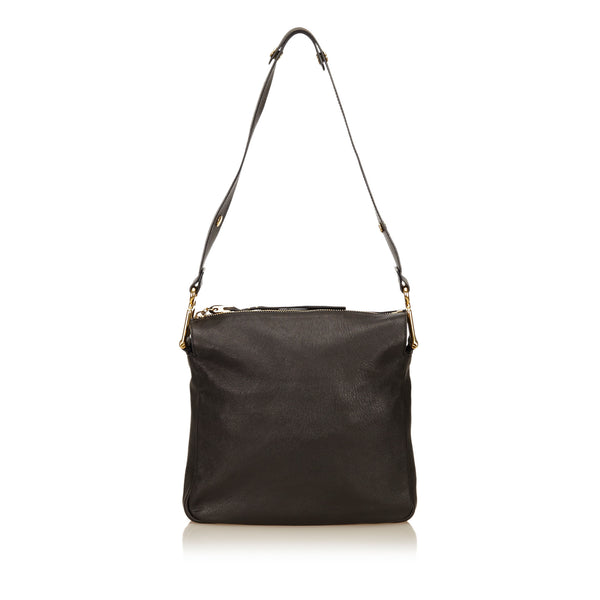 Black Chloe Leather Shoulder Bag