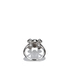 18K White Gold Christian Dior Tete de Mort Diamond Ring