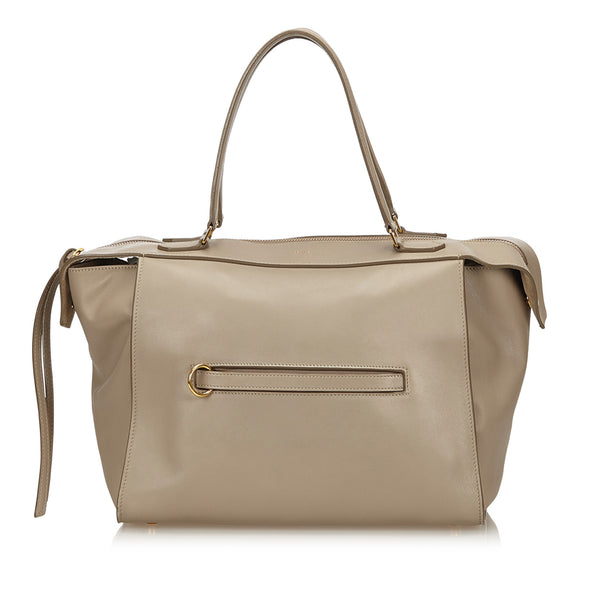 Beige Celine Small Ring Leather Bag