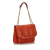 Orange MCM Leather Chain Shoulder Bag