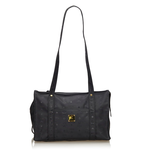 Black MCM Visetos Shoulder Bag