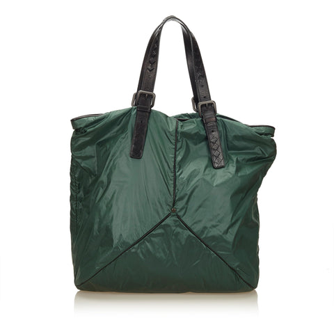 Green Bottega Veneta Nylon Shoulder Bag