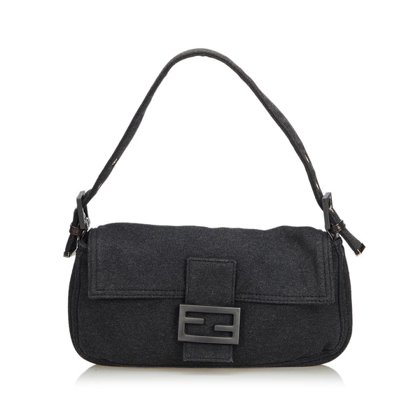 Gray Fendi Cotton Mamma Baguette