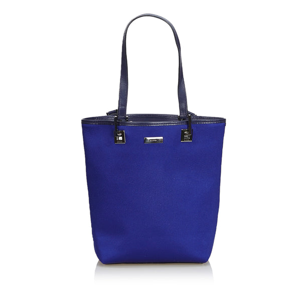 Blue Gucci Canvas Tote Bag