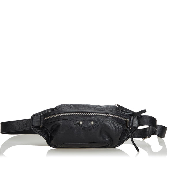 Black Balenciaga Lambskin Neolife Belt Bag