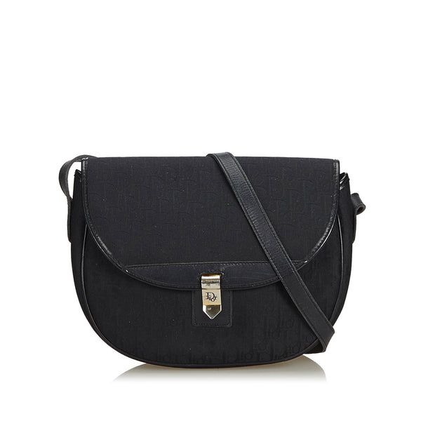 Black Dior Oblique Canvas Crossbody Bag