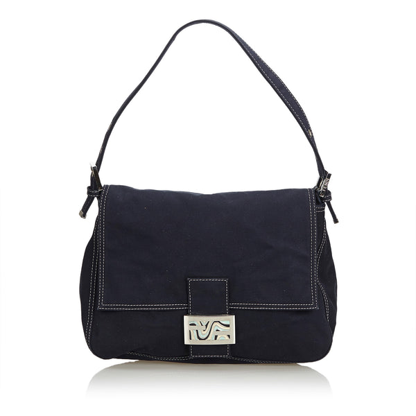 Black Fendi Canvas Mamma Forever Bag