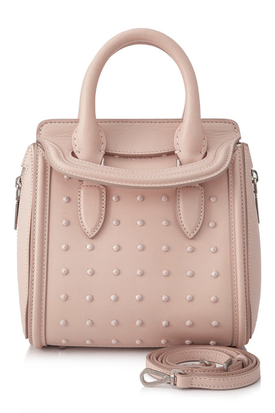Pink Alexander McQueen Calf Leather Studded Mini Heroine Bag