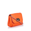 Orange Mulberry Leather Lily Crossbody Bag