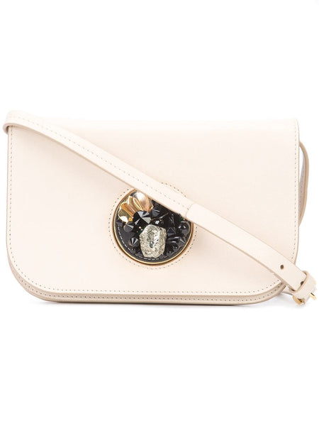 White Marni Leather Pois Crossbody Bag